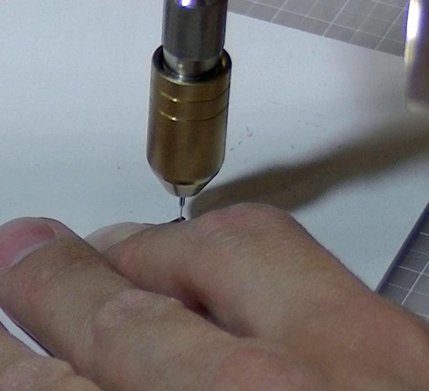 KATO C62 山陽形(呉線)2017-5 の加工 : 合併テコパーツへのφ0.3mmの穴あけ