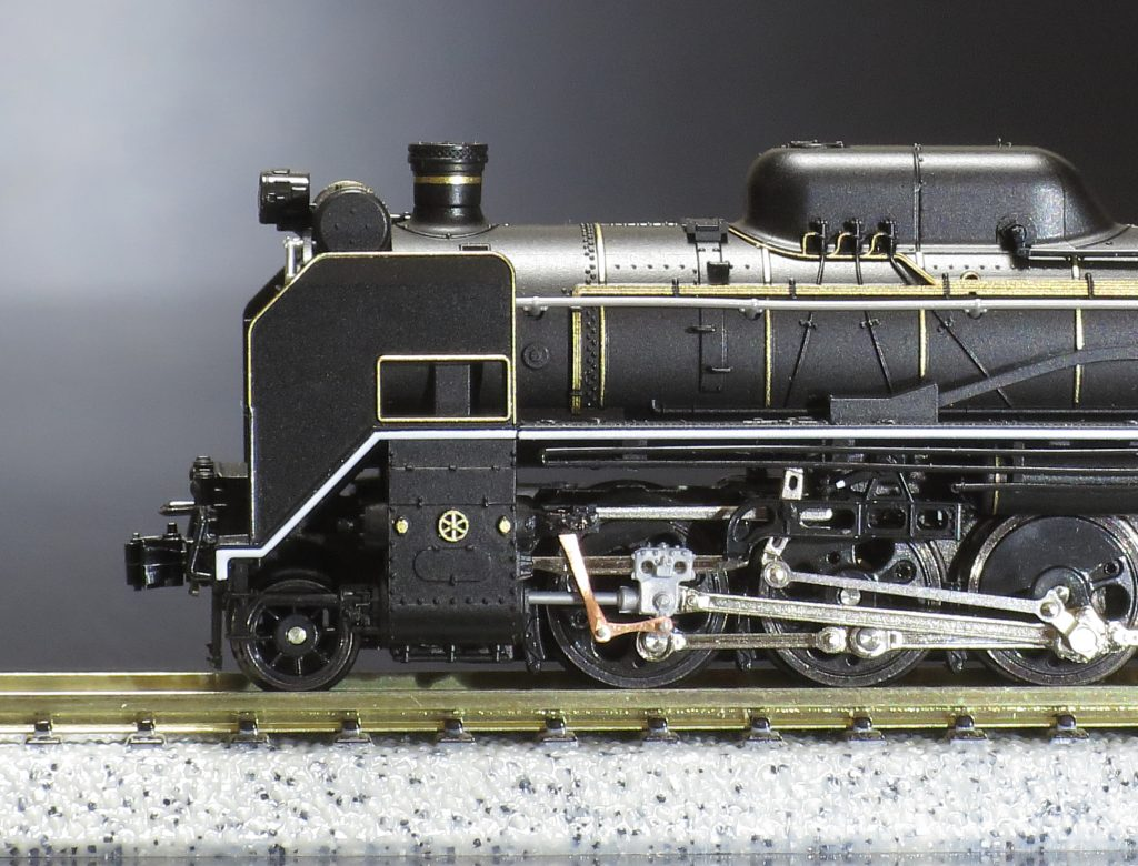 KATO D51 200 リンク機構への改造後 拡大